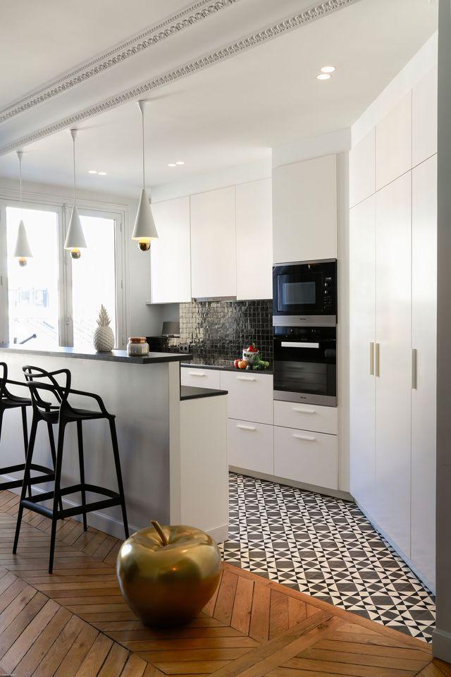 id e relooking cuisine appartement neuilly sur seine un 120 m2 familial r am nag c t. Black Bedroom Furniture Sets. Home Design Ideas