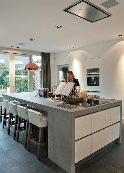 id e relooking cuisine bekijk de foto van beton2801 met als titel mooi keukeneiland gemaakt. Black Bedroom Furniture Sets. Home Design Ideas