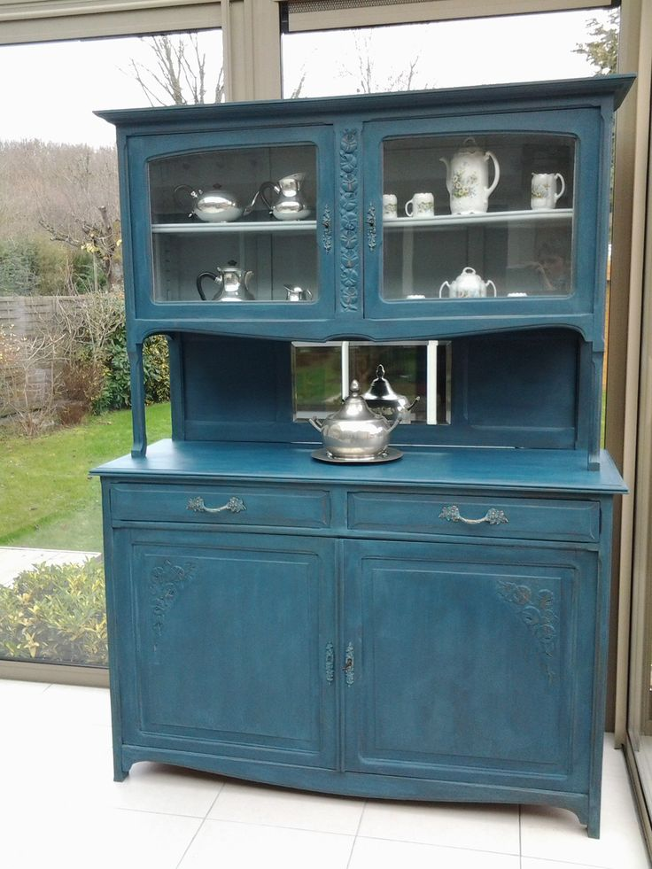 id e relooking cuisine buffet deux corps art d co patin bleu aubusson meubles et rangements. Black Bedroom Furniture Sets. Home Design Ideas