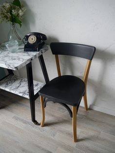 Id e relooking cuisine chaise bistrot estampill e for Chaise de cuisine style bistrot