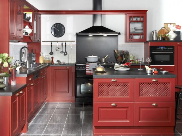 id e relooking cuisine cuisine bistrot rouge leading inspiration. Black Bedroom Furniture Sets. Home Design Ideas