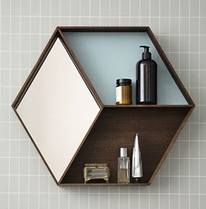 Decolcico distingu coffre jouet banc coffre jouet en bois for Miroir hexagonal cuivre