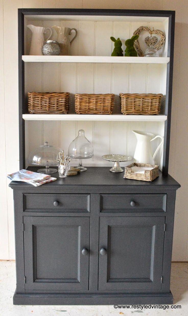id e relooking cuisine restyled vintage hamptons style buffet and hutch. Black Bedroom Furniture Sets. Home Design Ideas