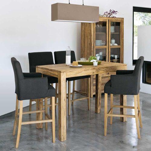 id e relooking cuisine table haute de salle manger en bois de sheesham massif l 150 cm. Black Bedroom Furniture Sets. Home Design Ideas