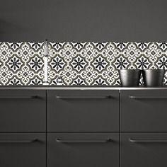 id e relooking cuisine trianon noir adh sif imperm abilis fa on carreaux de ciment pour. Black Bedroom Furniture Sets. Home Design Ideas