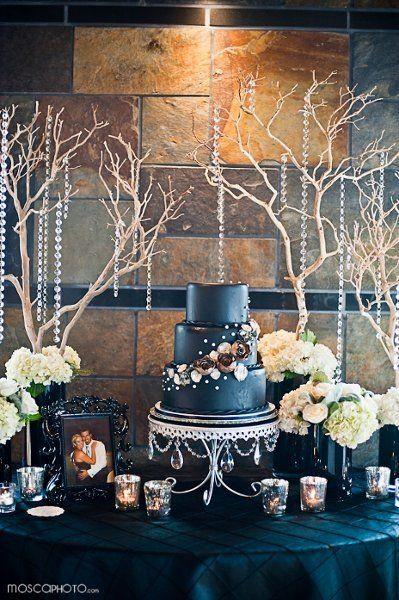 Piece Montee 2017 Navy Embellished Wedding Cake I Luxe Event