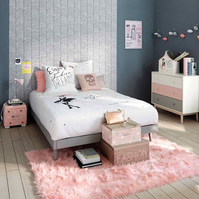 Beautiful Deco Chambre Ado Fille Gris Et Rose Contemporary