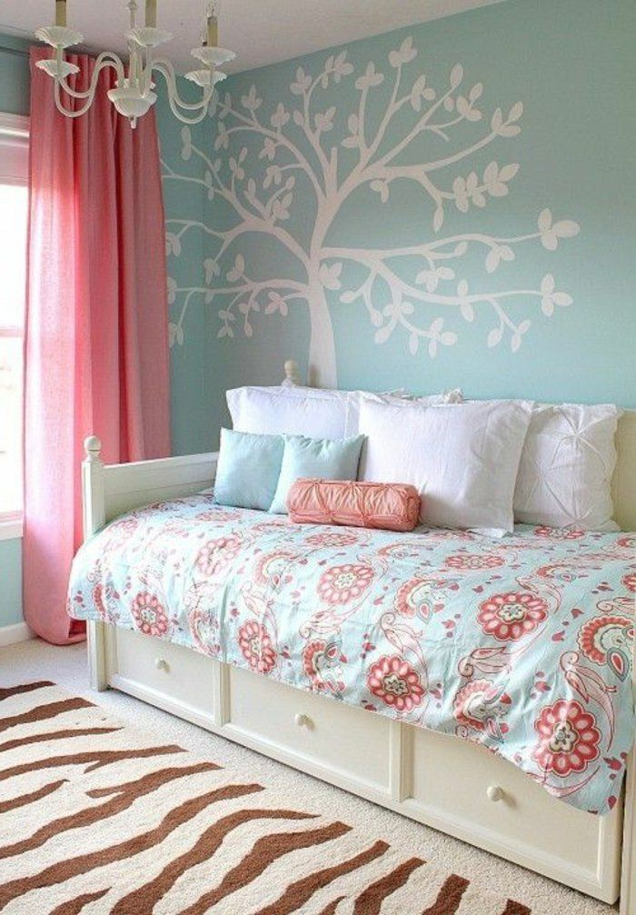relooking et d coration 2017 2018 deco chambre ado fille d coration avec stickers muraux en. Black Bedroom Furniture Sets. Home Design Ideas