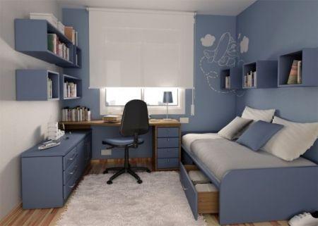 Jolie deco chambre ado garcon bleu gris ... - ListSpirit.com ...