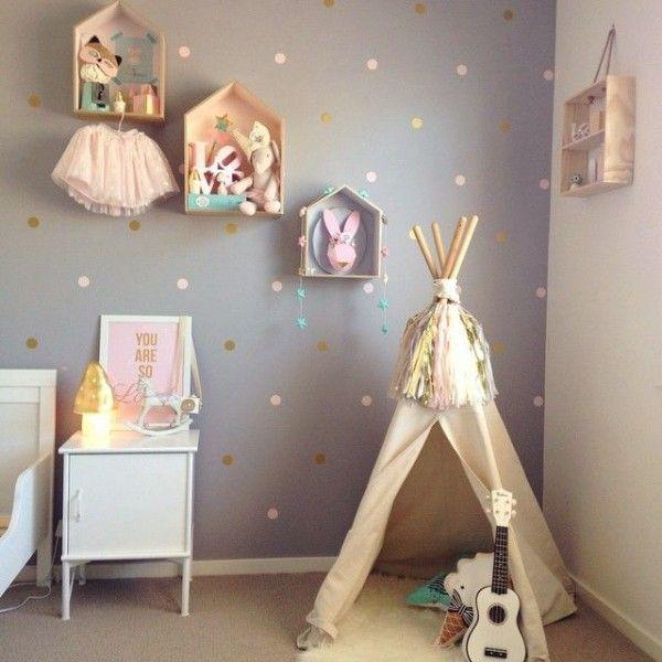 Idee Chambre Bebe Deco relooking et décoration 2017 / 2018 - le tipi dans la chambre bébé