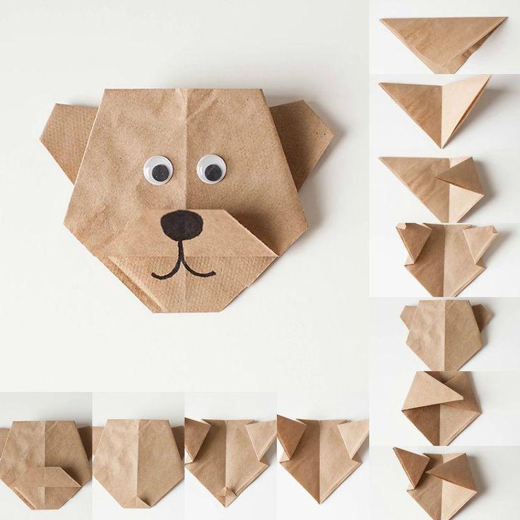 relooking et d coration 2017 2018 origami facile pliage de papier en forme ourson mignon. Black Bedroom Furniture Sets. Home Design Ideas