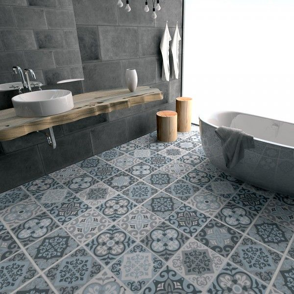 Relooking et d coration 2017 2018 relooking du sol de la salle de bain avec le carrelage - Sol tendance 2017 ...