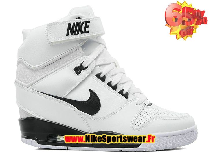 on sale 9898f 32613 Description. Chaussure Montante Nike Pas Cher Pour Femme Nike Air  Revolution Sky Hi GS BLANC NOIR ...