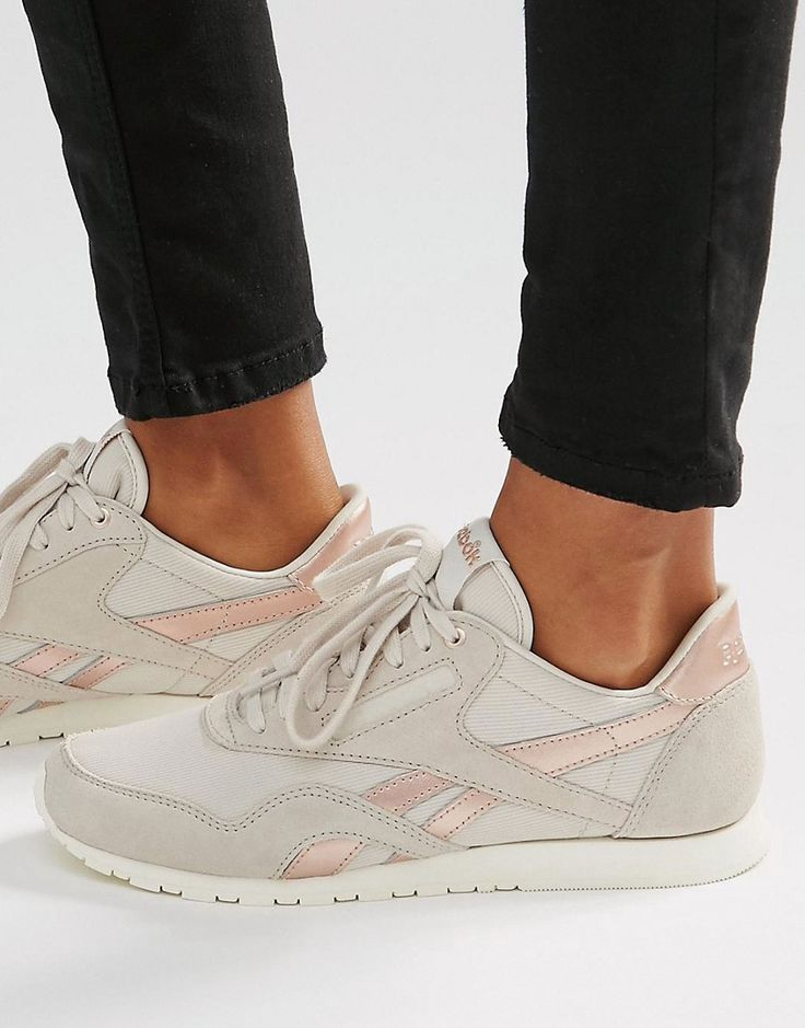 19fcbe64c9653 Tendance Basket 2017 - Reebok Classic Trainers In Nude With Rose ...