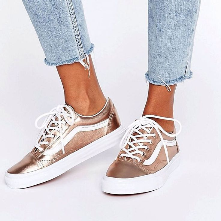 tendance basket 2017 sneakers women vans old skool rose gold asos. Black Bedroom Furniture Sets. Home Design Ideas