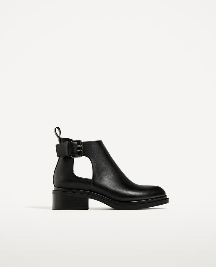 tendance chaussures 2017 bottines plates ouvertes bottes et bottines chaussures femme zara. Black Bedroom Furniture Sets. Home Design Ideas