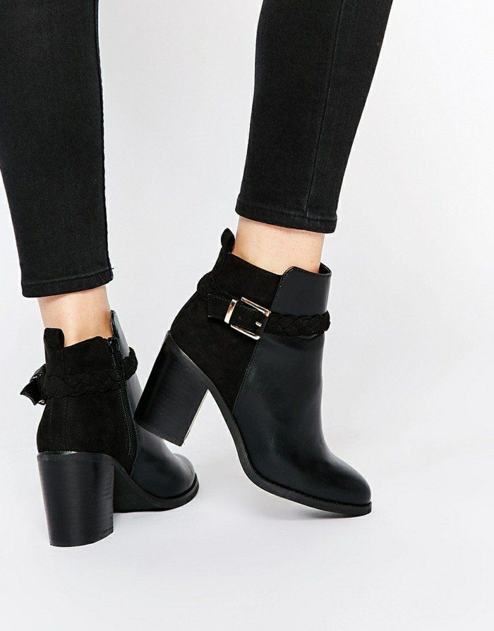 tendance chaussures 2017 chaussures bottines fourr es femme bottine cuir chic listspirit. Black Bedroom Furniture Sets. Home Design Ideas