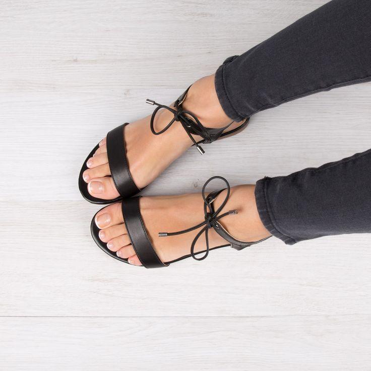 nouvelles photos vif et grand en style couleur attrayante Tendance Chaussures 2017 - Nu pieds noir tendance ...