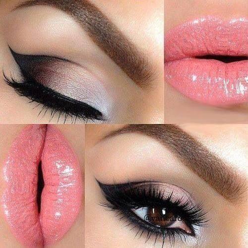Description. Maquillage pour les yeux marrons