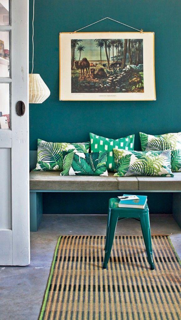 Déco Salon - Bleu canard et vert tropical ... - ListSpirit.com ...