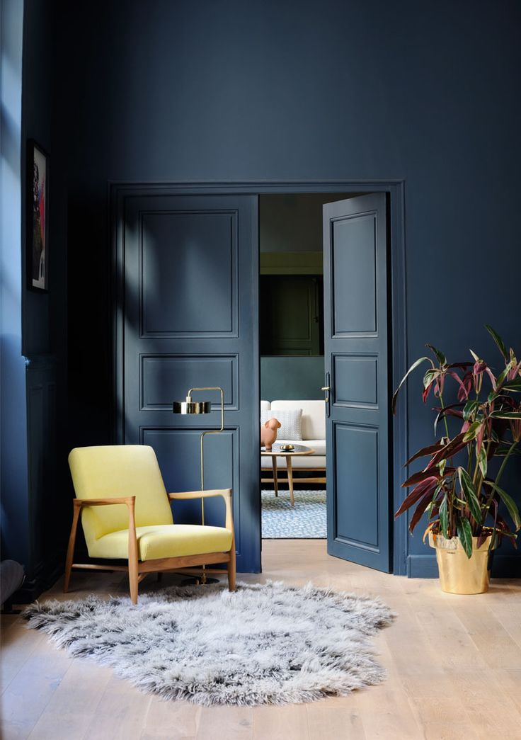 D co salon bleu indigo en d coration d 39 int rieur appartement red edition listspirit - Idee deco huis interieur ...
