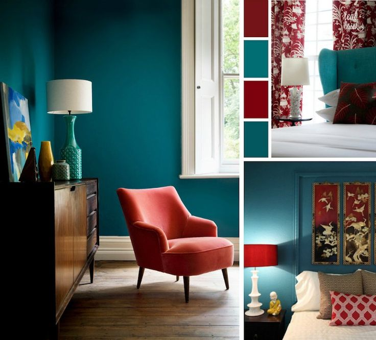 d co salon chambre bleu canard rouge cardinal et blanc avec meubles et d co en styles var. Black Bedroom Furniture Sets. Home Design Ideas