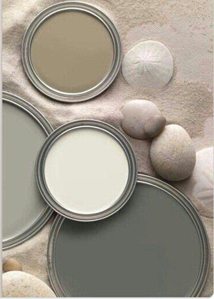 Déco Salon Couleur Blanc Beige Et Gris Idee Peinture