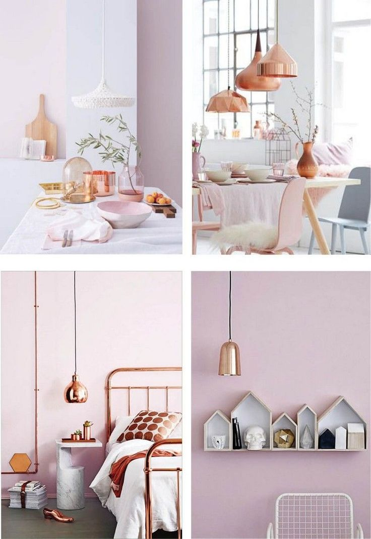 d co salon couleur pantone 2016 rose quartz et suspensions et objets en cuivre listspirit. Black Bedroom Furniture Sets. Home Design Ideas