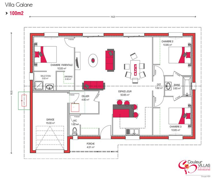 D co salon couleur villas vous propose des plans de for Plan et decoration de maison