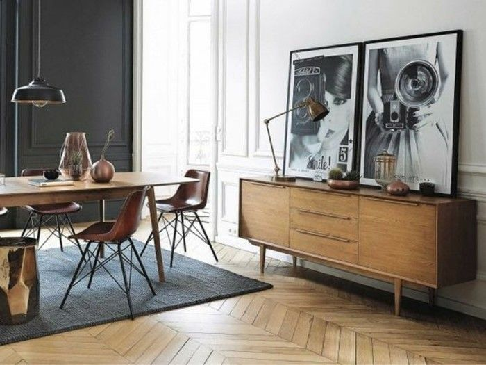 d co salon id e d co pas cher appartement tapis gris sol en parquet clair mur double co. Black Bedroom Furniture Sets. Home Design Ideas
