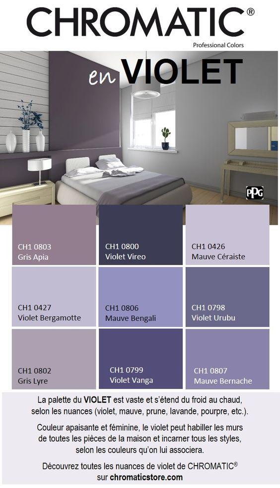 d co salon la palette du violet est vaste et s tend du froid au chaud selon les nuance. Black Bedroom Furniture Sets. Home Design Ideas