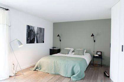 emejing chambre a coucher gris et vert ideas