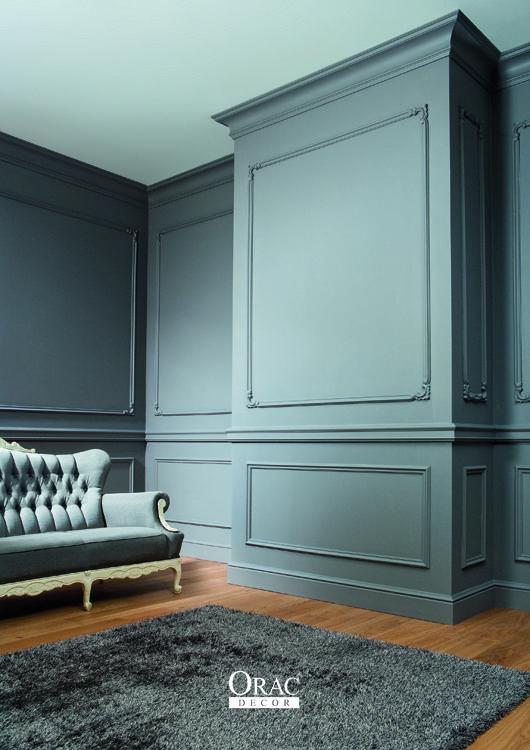 D co salon moulure cimaise plinthe le trio gagnant pour votre salon - Conseils de decoration pour votre salon ...