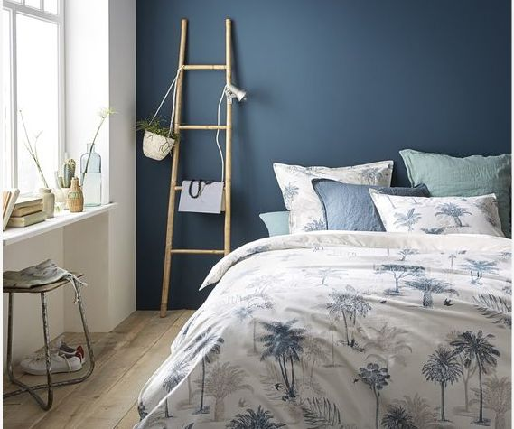 d co salon mur bleu chambre la redoute peindre le bon mur le blog deco de mlc listspirit. Black Bedroom Furniture Sets. Home Design Ideas