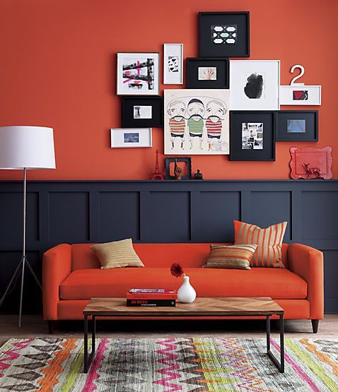 d co salon peinture mur de couleur flashy rouge leading inspiration. Black Bedroom Furniture Sets. Home Design Ideas