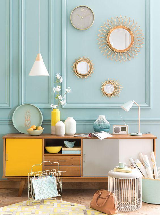D co salon tendance mint lemon maisons du monde for Decoration salon maison du monde