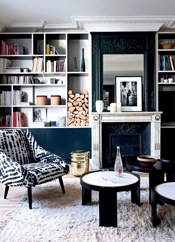d co salon un haussmannien aux couleurs clatantes marie claire maison. Black Bedroom Furniture Sets. Home Design Ideas