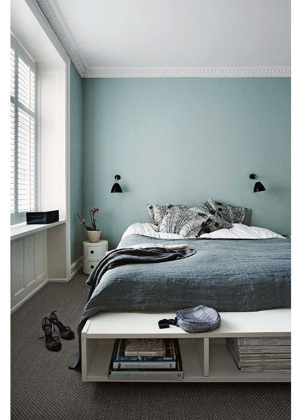 D co salon une chambre bleue pastel for Deco salon chambre