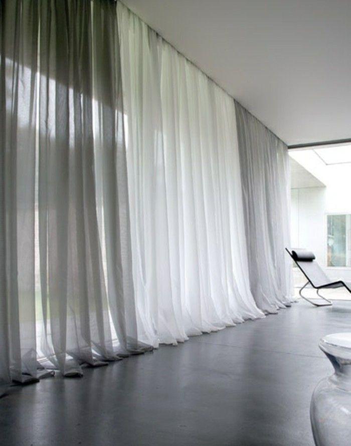 d co salon voilage ikea gris banc dans le salon avec sol en parquette noir. Black Bedroom Furniture Sets. Home Design Ideas