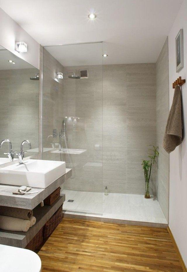 Id e d coration salle de bain am nagement salle de bain avec petite surface et douche l - Petite salle de bain douche italienne ...