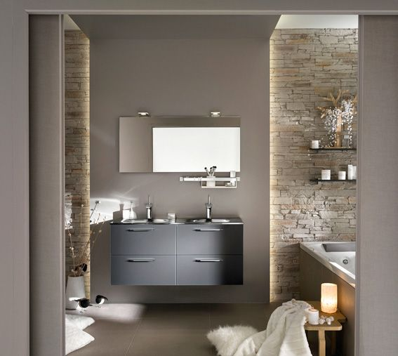 id e d coration salle de bain avec son meuble vasque aux. Black Bedroom Furniture Sets. Home Design Ideas
