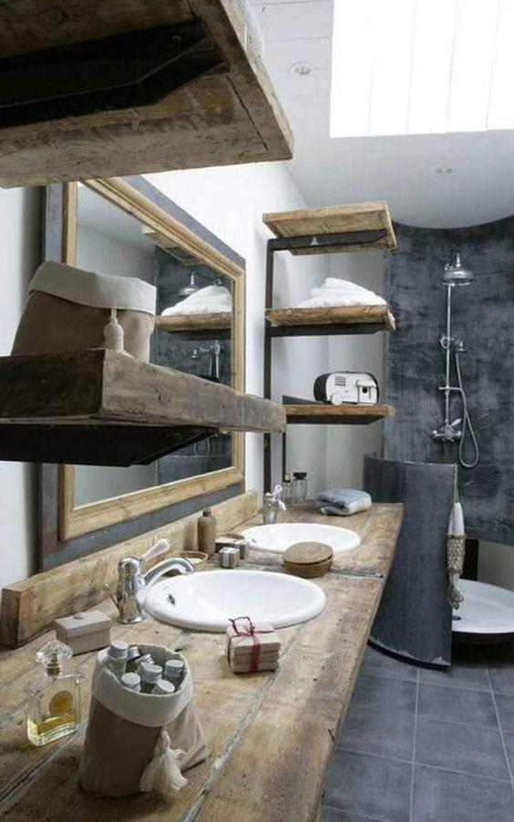 Idée décoration Salle de bain - Béton ciré dans une salle de bain ...