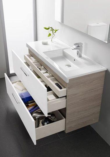 Id e d coration salle de bain dans une petite salle de Meuble vasque pour petite salle de bain