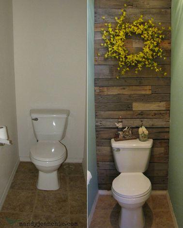 Idée décoration Salle de bain - Déco WC avec des matériaux de ...