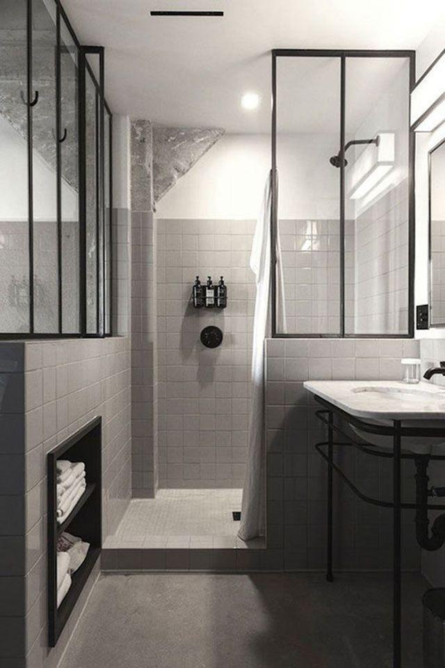 id e d coration salle de bain des verri res pour agrandir visuellement la salle de bains. Black Bedroom Furniture Sets. Home Design Ideas