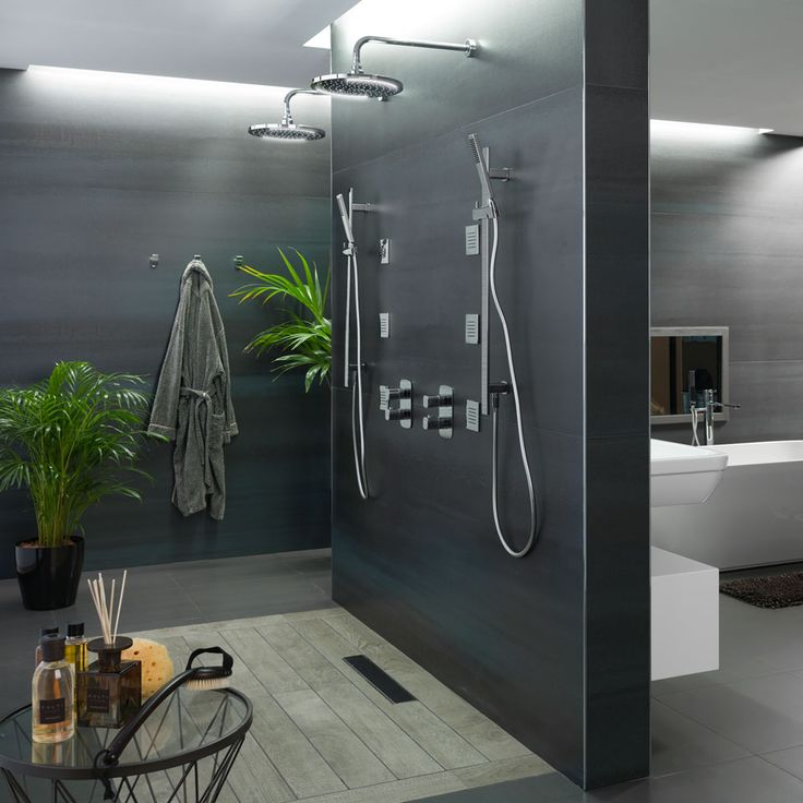 id e d coration salle de bain douche l 39 italienne double set de douche nk concept porcelanosa. Black Bedroom Furniture Sets. Home Design Ideas