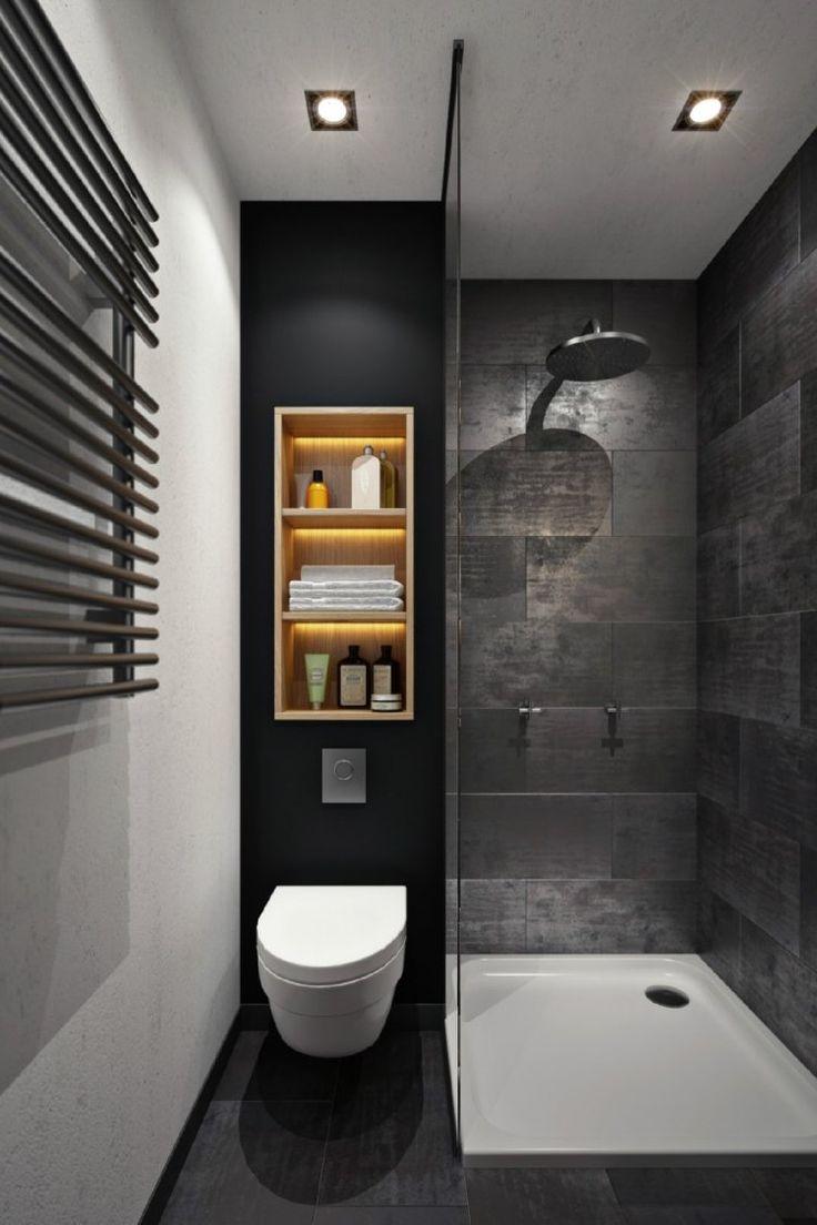 idée décoration salle de bain - douche à l'italienne, éclairage ... - Idee Pose Carrelage Mural Salle De Bain