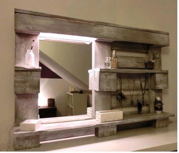 id e d coration salle de bain id e de miroir pour salle de bain fabriqu l aide d une. Black Bedroom Furniture Sets. Home Design Ideas