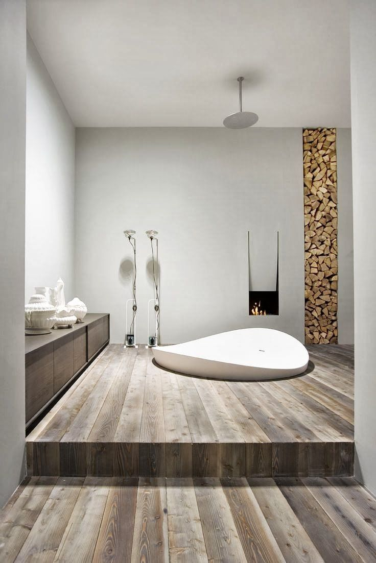 id e d coration salle de bain id e unique de design salle de bains moderne en bois. Black Bedroom Furniture Sets. Home Design Ideas