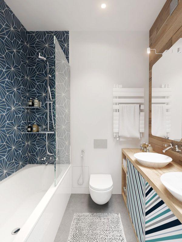 id e d coration salle de bain magnifique salle de bain bleue leading. Black Bedroom Furniture Sets. Home Design Ideas